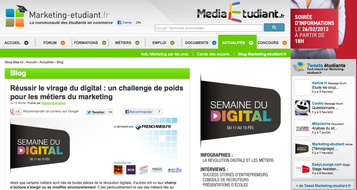 Réussir le virage du digital