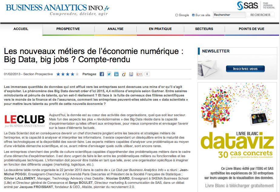 nouveaux métiers de l'économie numérique