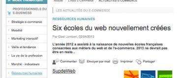 écoles du web
