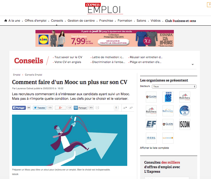 comment faire d u0026 39 un mooc un plus sur son cv     l u0026 39 express