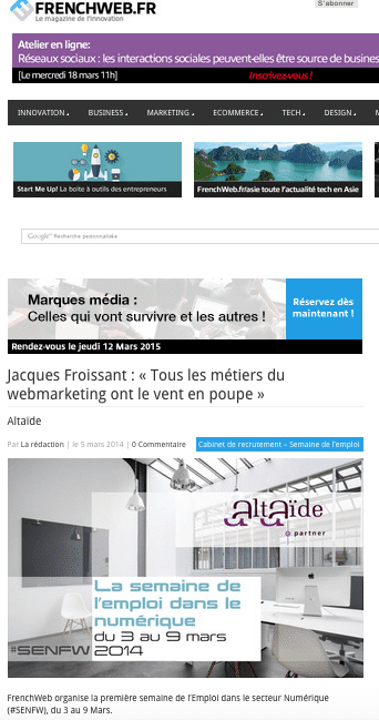 métiers du webmarketing