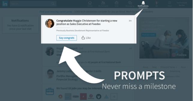 Linkedin notification tab